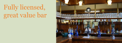 Bar at thornfield house wedding venue